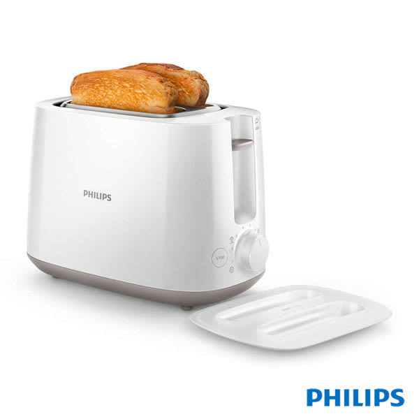 PHILIPS 飛利浦電子式智慧型厚片烤麵包機 HD2582 / HD-2582 (白色款)