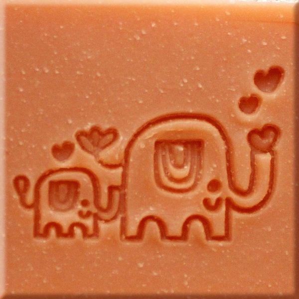 【香草工房】 風格皂章~B015 大象的家庭旅行