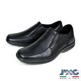 【IMAC】義大利牛皮輕量抗震休閒氣墊鞋  黑色(101180-BL)