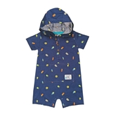 Carter s卡特 連帽短袖兔子裝 深藍昆蟲 | 男寶寶連身衣(嬰幼兒/baby/新生兒)