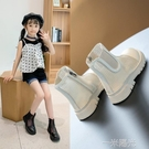 回力女童馬丁靴夏季透氣薄款百搭短靴網紗鏤空涼靴2021新款煙筒靴 一米陽光