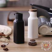 歐式廚房調料壺陶瓷醬油壺醋瓶醬油瓶調味壺套裝調料瓶廚房用品 【好康免運】