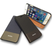 【默肯國際】MOKKA 簡約系列 IPHONE 6 4.7 撞色側翻皮套 IPHONE 6 4.7