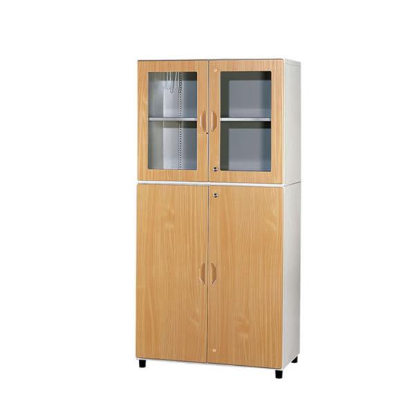 【YUDA】WN3+WG2 鋼木開門上玻鋼木櫃/鐵櫃 文件櫃/展示櫃/公文櫃