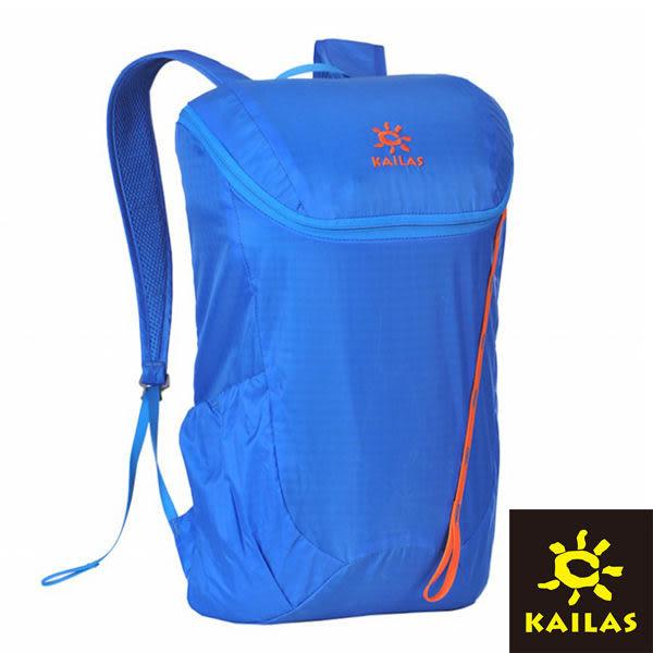 【Kailas】隨行簡約休閒背包18L 海藍/橙紅 KA30073A1 登山|露營|休閒|旅遊|戶外