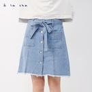 a la sha 小裙子小褲子口袋牛仔短裙
