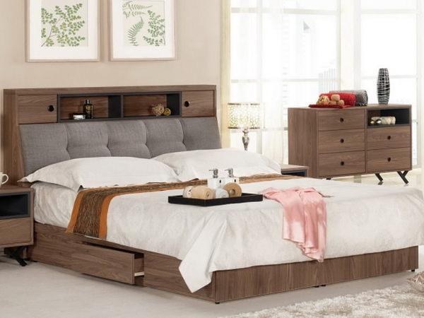 床架 MK-039-1 約克6尺被櫥式雙人床 (床頭+床底)(不含床墊) 【大眾家居舘】