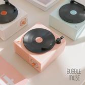 【黑膠唱片簡約藍牙喇叭】三色售|BUBBLE MUSE x 氣泡小姐