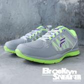 FILA 灰螢綠 透氣 休閒鞋 慢跑鞋 女 (布魯克林) 5J910P499