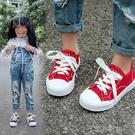快速出貨 兒童帆布鞋女童鞋新款男童小白球鞋休閒板鞋寶寶餅干布鞋