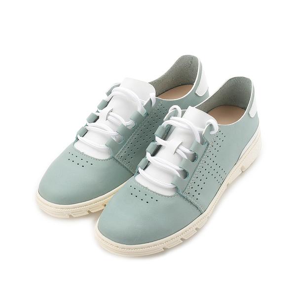 TANGO 真皮小洞休閒鞋 淺白藍 3034 女鞋 鞋全家福