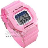 SKMEI 彩色繽紛 休閒多功能 夜間冷光照明 運動電子錶 SK6918粉紅