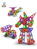 小霸龍磁力片積木兒童吸鐵石玩具磁鐵3-6-8周歲男孩女孩益智拼裝    麻吉鋪