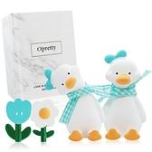 OPretty 歐沛媞 車用香氛擴香石擺飾-元氣加油鴨禮盒(藍色)