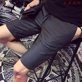 條紋短褲男西褲休閒褲五分豎紋 衣普菈