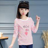童裝女大童上衣春裝新款長袖春夏季半袖兒童棉質女童T恤薄款 萬聖節