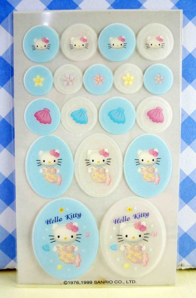 【震撼精品百貨】Hello Kitty 凱蒂貓~KITTY貼紙-香水貼紙-藍美人魚