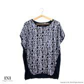 【INI】率性風格、字母印花休閒剪裁上衣.灰色