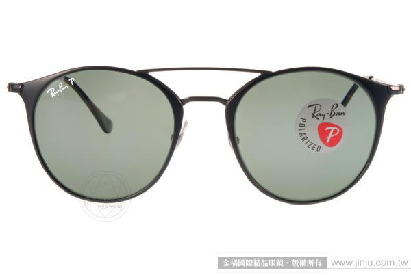 RayBan 太陽眼鏡 RB3546 1869A (黑) 金屬小貓眼熱銷偏光款 # 金橘眼鏡