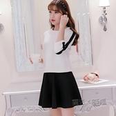 洋裝 2020春夏新款女裝大碼韓版中袖洋裝時尚顯瘦女T恤兩件套 中秋節