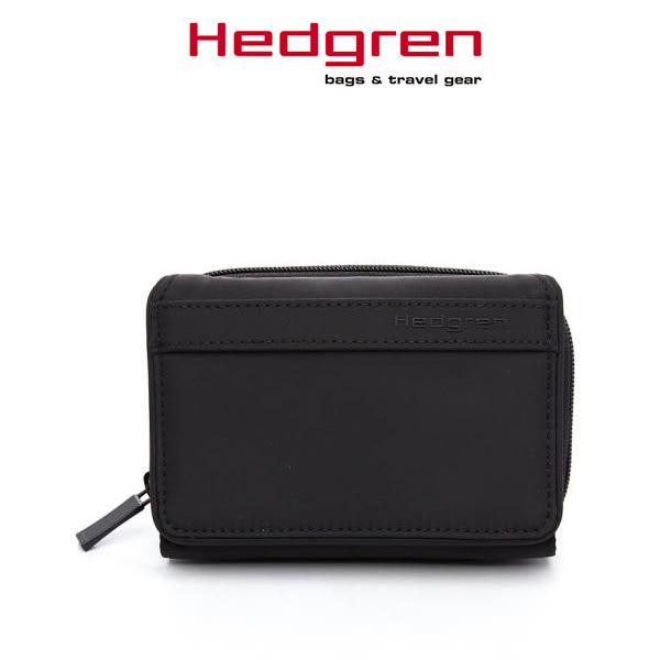 Hedgren 皮夾 黑色 HFOL芙莉系列 15卡短夾 女用錢包 HFOL02-BK  MyBag得意時袋