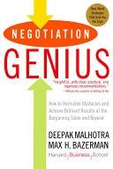 二手書 Negotiation Genius: How to Overcome Obstacles and Achieve Brilliant Results at the Bargaining T R2Y 0553384112