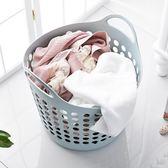 塑料大號髒衣籃手提素色髒衣服收納籃髒衣簍玩具雜物整理筐置物籃RM 免運快速出貨