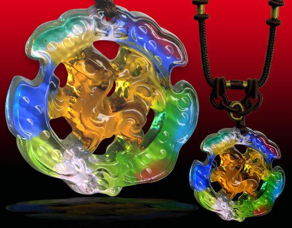 鹿港窯~居家開運水晶琉璃項鍊~貔 貅 附精美包裝 ◆免運費送到家◆