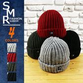 毛帽-素原內毛小Logo毛帽--嚴選素面百搭款《9971-301》黑色.紅色.灰色.深灰色【現貨+預購】『SMR』