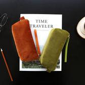 kinbor大容量筆袋文具袋女韓國創意簡約天鵝絨化妝包旅行小收納包 全館免運
