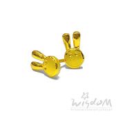 威世登 黃金兔兔貼耳式耳環(矽膠耳束) 金重約0.44~0.46錢 GF00389-EEX-FIX