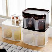 調味罐  廚房用品調料盒鹽罐佐料收納盒塑料調味瓶家用套裝 夢藝家