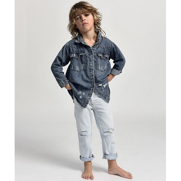 ONETEASPOON 童裝 KIDS AWE BAGGIES 牛仔褲-(藍)
