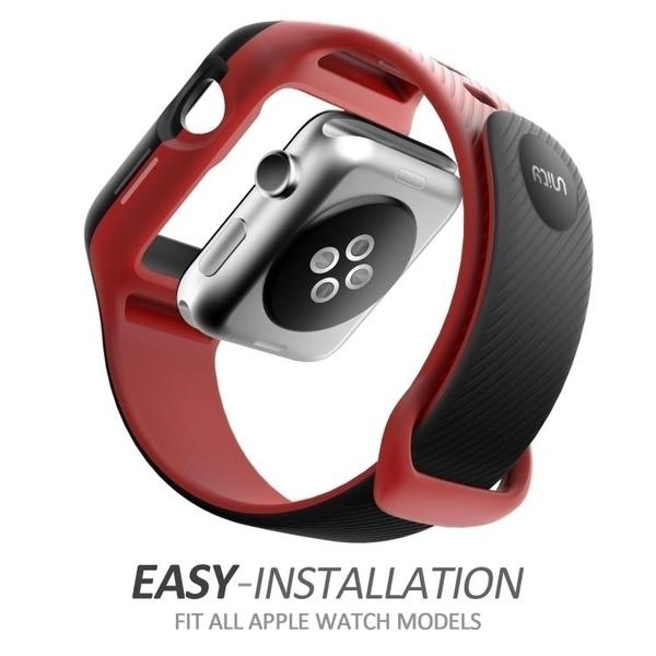 錶帶美國Supcase蘋果Apple Watch手錶帶42mm保殼套一二三代通用 交換禮物