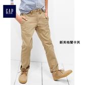Gap男童 基本款彈力休閒卡其褲兒童褲 234818-新英格蘭卡其