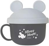 日本 迪士尼 Disney 米奇外出副食品餵食碗(附湯匙)~灰色