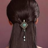 半扎髮卡頭飾髮夾頭飾夾復古髮飾頂夾民族風邊夾飾品成人百搭