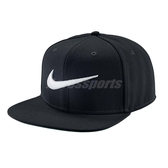 Nike 帽子 Swoosh Pro Snapback Cap 黑 白 大勾勾 電繡 後扣 棒球帽 【PUMP306】 639534-011