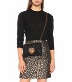 ■專櫃63折■全新真品■Dolce & Gabbana Devotion 珍珠心型Nappa小羊皮衍縫肩背包