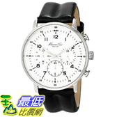 [美國直購] Kenneth KC1568 Cole 手錶 New York Men s KC1568 Iconic Chronograph Black Leather Strap Dress Watch