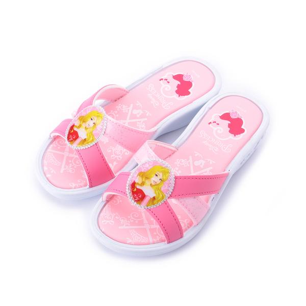 DISNEY 奧羅拉公主套式拖鞋 粉 中大童鞋 鞋全家福