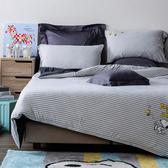 HOLA 史努比 Snoopy 系列 針織刺繡床被四件組 雙人