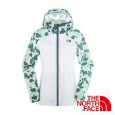 美國The North Face 女輕量迷彩外套『白印花』抗風設計│路跑慢跑運動外套 NF0A3673