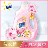 白蘭 含熊寶貝馨香精華大自然馨香洗衣精瓶裝2.5KG