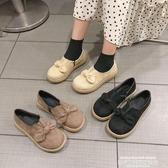 娃娃鞋2019秋冬季新款日系女蝴蝶結平底單鞋深口森女瑪麗珍鞋復古娃娃鞋 聖誕交換禮物