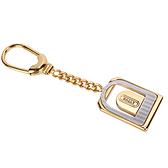 BALLY經典LOGO波浪紋裝飾造形鑰匙圈吊飾(金色) 090160