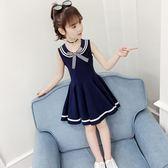 女童連身裙洋裝夏裝2019新款韓版網紅女童裝超洋氣學院風女孩棉布裙子 快速出貨