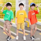 男童短袖T恤童裝2019夏季新款韓版洋氣中大童棉質半袖上衣潮 FR10002『俏美人大尺碼』