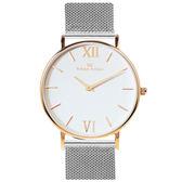 Max Max 三秒翻轉你的時尚腕錶禮盒-銀X玫瑰金X大