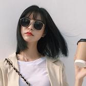 小臉墨鏡女潮海邊防曬偏光太陽鏡款眼鏡